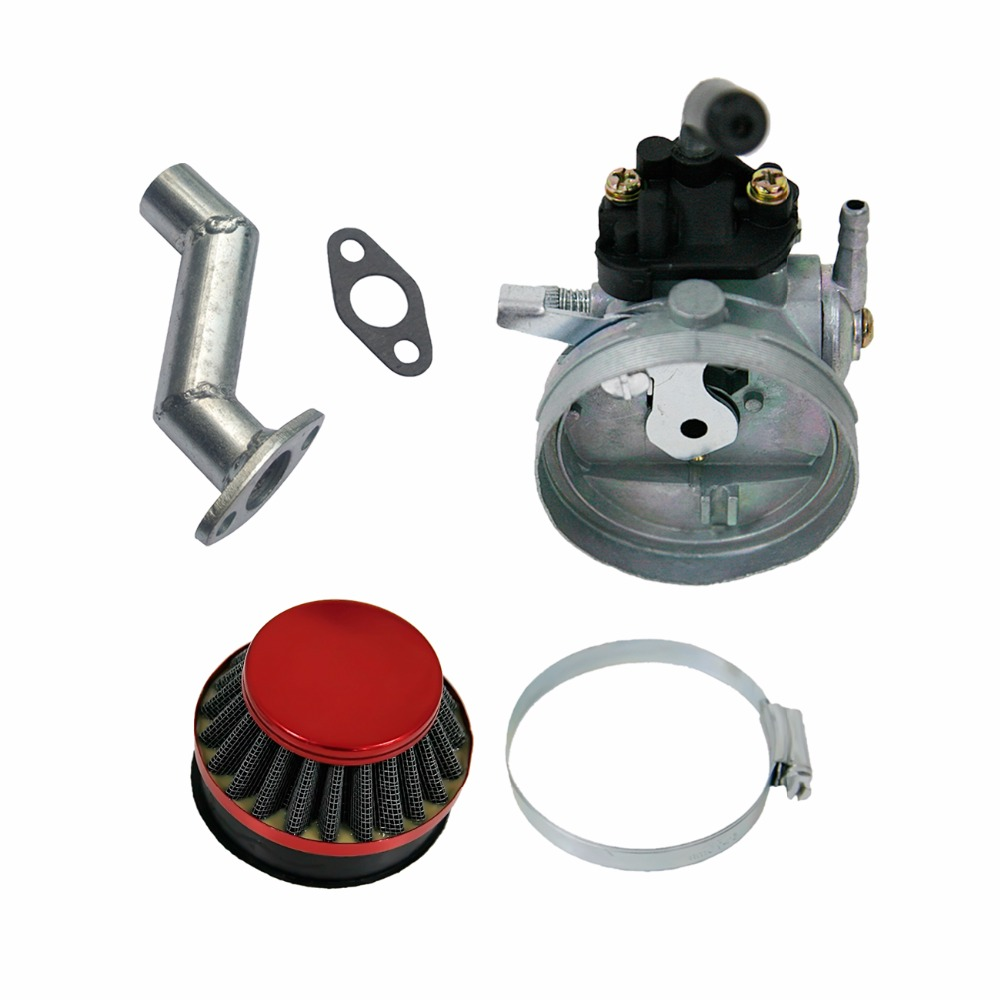 Carburetor & Air Filter & Manifold For 49 66 70 80cc Motorized Bicycle Bike RedCarburetor & Air Filter & Manifold For 49 66 70 80cc Motorized Bicycle Bike Red