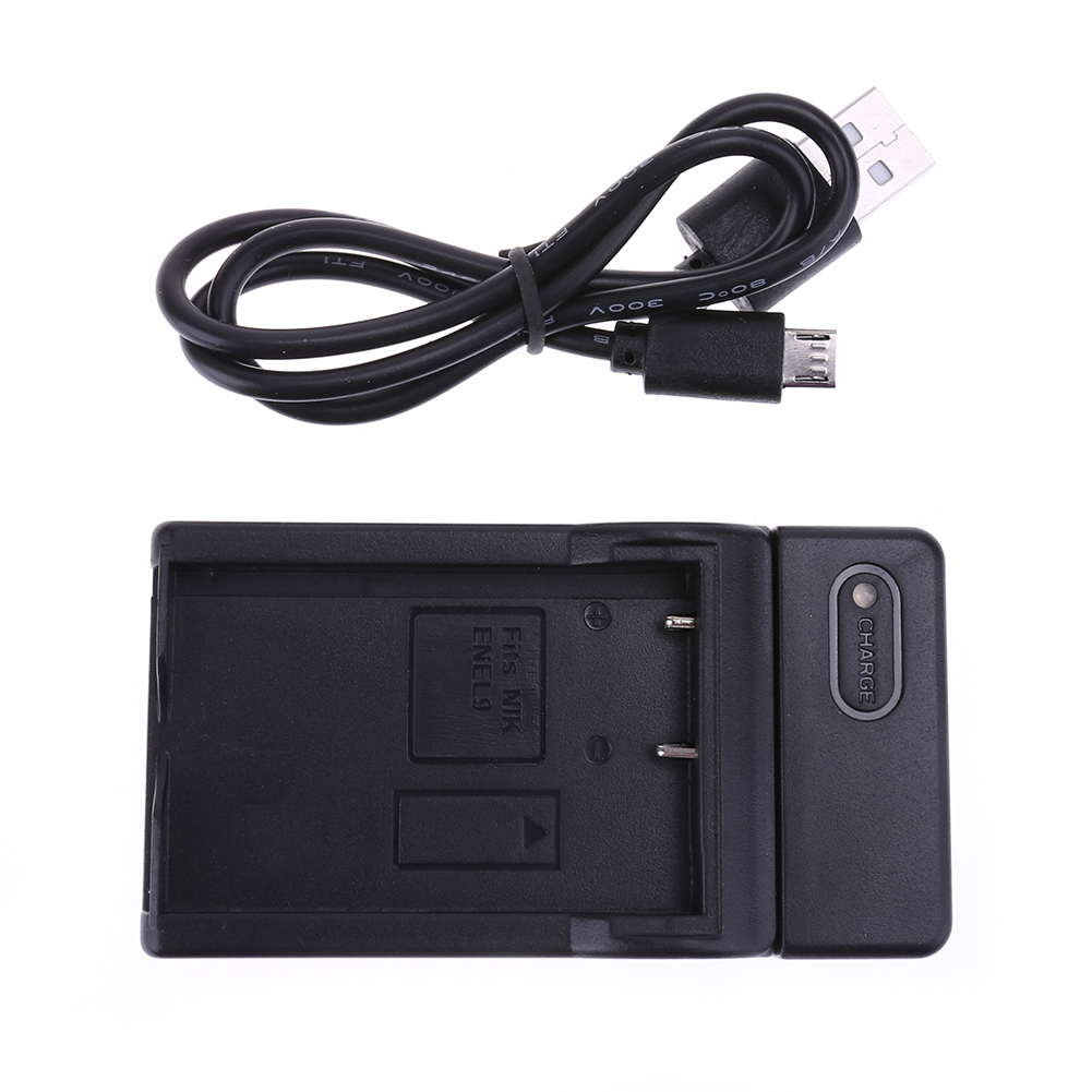 2pcs action Camera <font><b>600mAh</b></font> <font><b>Battery</b></font> Charger for Nikon DSLR D40 DSLR D40X DSLR D60 DSLR D3000 Camera