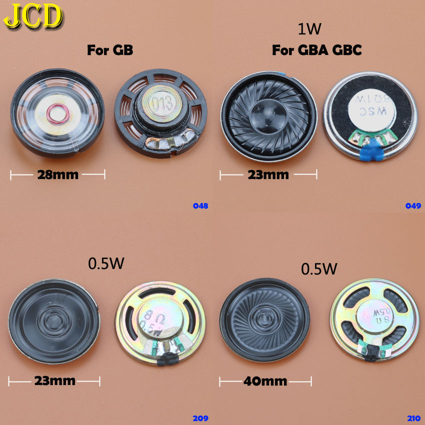 JCD 1PCS 23MM 28MM 40MM Replacement Speaker Loudspeaker For Nintend Game Boy Color Advance For GBO GB GBC GBA Video Speakers