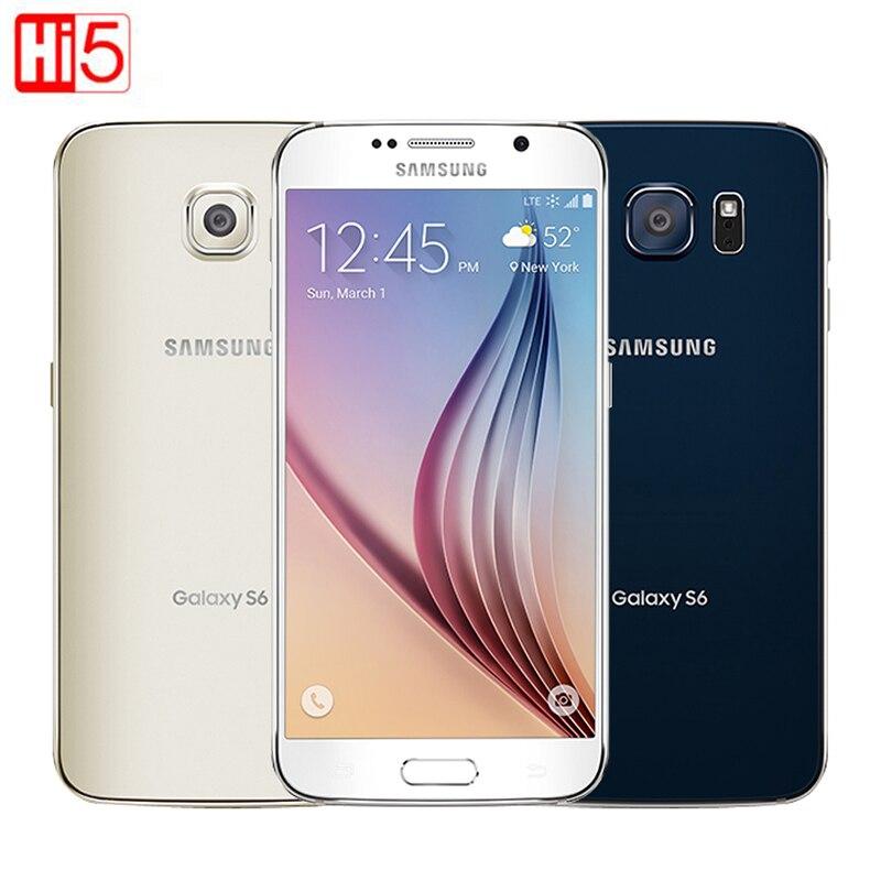 Разблокированный Samsung Galaxy S6 G920F/G920V/G920A одна sim-карта Восьмиядерный 3G ОЗУ 32 Гб ПЗУ WCDMA LTE камера 16 МП 5,1 дюйма Bluetooth