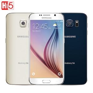 Image 1 - Unlocked Samsung Galaxy S6 G920F/G920V/G920A single sim card Octa Core 3G RAM 32GB ROM WCDMA LTE 16MP Camera 5.1 inch Bluetooth