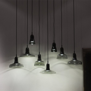 Nordic crystal glass pendant lamps modern minimalist LED Shadow personality creative Restaurant Bar Cafe light GY106