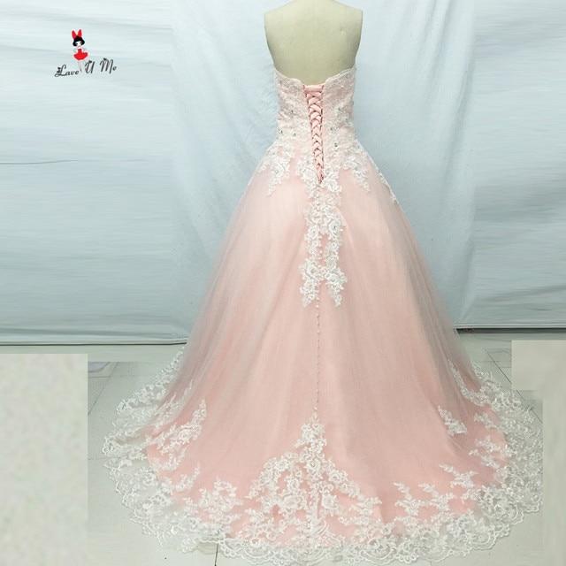 Modest Rosa Brautkleid Spitze Vestido de Noiva 2017 Plus größe ...
