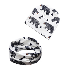2018 Children's Animal Caps Seals Cotton Baby Hats Baby Hat Scarf 2 pcs. Set of Children Knitted Hat Winter Hat SA008