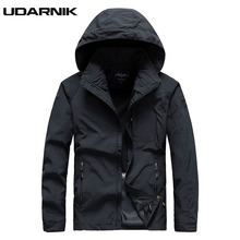 купить Men Loose Casual Jackets Nylon Black Hooded Zipper Thin Sports Coats Spring Autumn Outwear Tops Jumping Running Wear 223-471 дешево