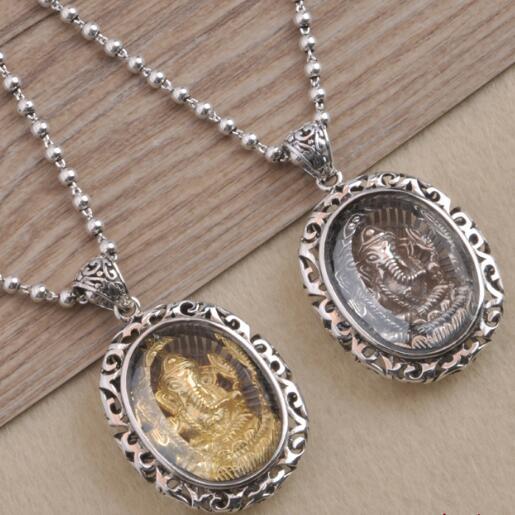 купить Handcrafted 100% 925 Silver Ganesh Buddha Pendant Necklace Solid silver Ganesa Buddha Pendant Necklace Elephant Buddha Amulet по цене 1949.34 рублей