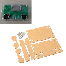 New Arrival Transparent Acrylic Sheet Housing Case For DSP & PLL Digital Stereo FM Radio Receiver Module  Acoustic Components
