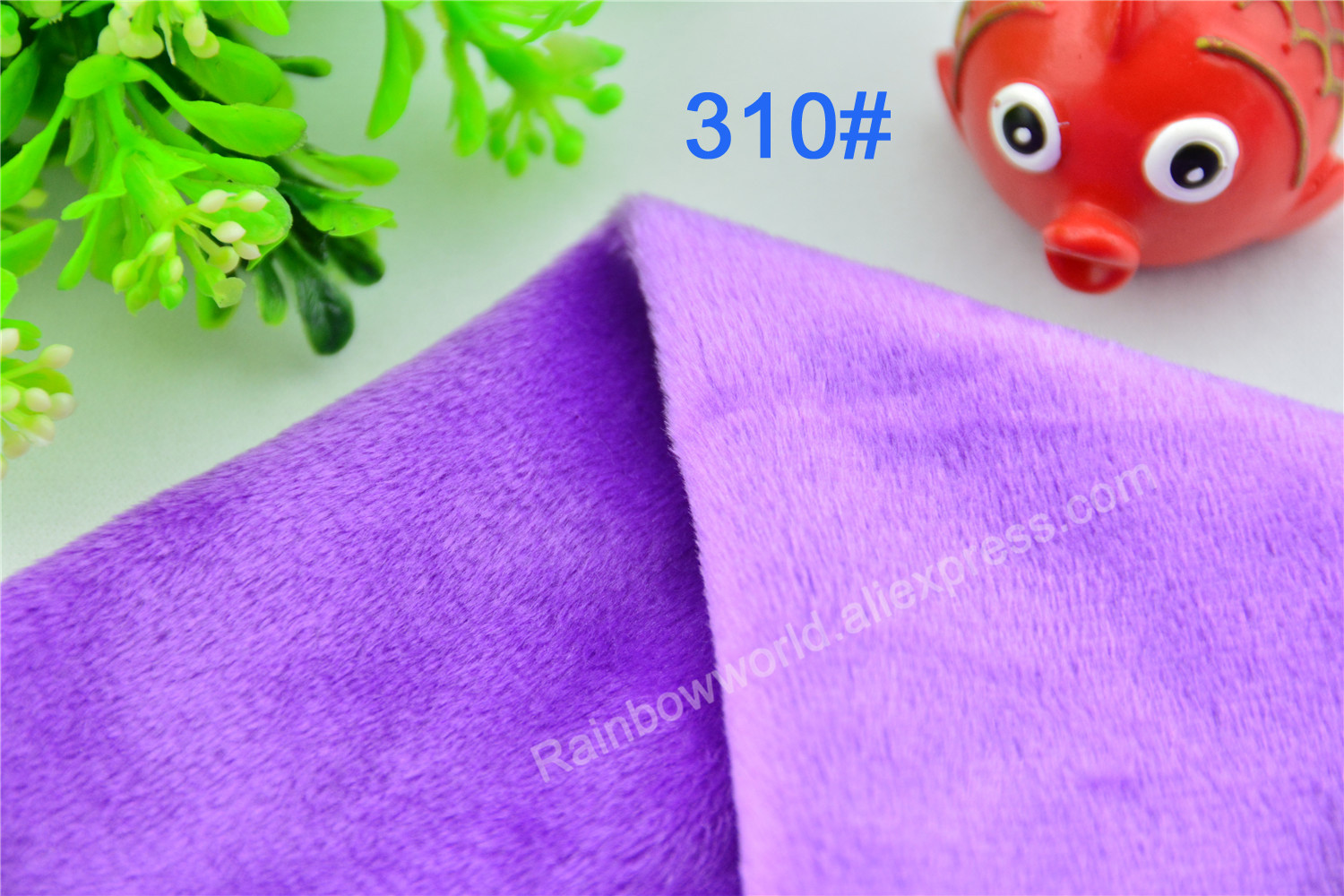 310# Purple Color Super Soft Short Hair 2-3mm Fleece Fabric Velvet Microfiber Velboa for DIY Patchwork Toy Shoes Sofa Pillow