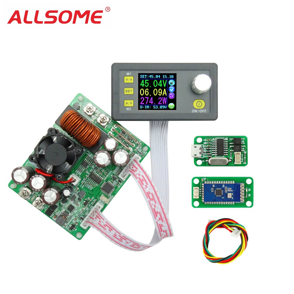 ALLSOME DPS5020 50V 20A Constant Voltage Current Converter LCD Voltmeter Step-down Communication Digital Power Supply