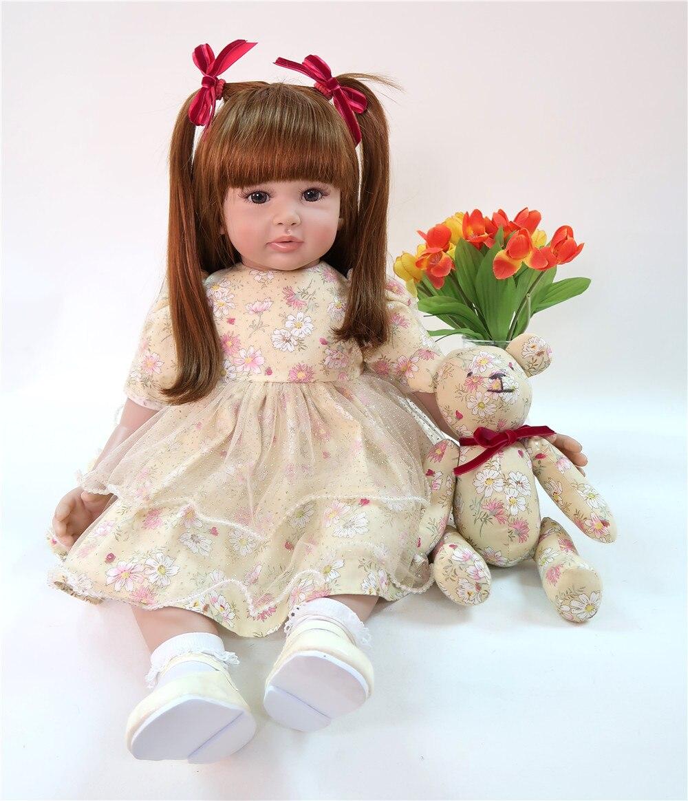 Réaliste 60 cm Reborn bébé infantile Doux Silicone Reborn bébé poupée À La Main princesse 24 pouces poupées cadeaux collection bonecas