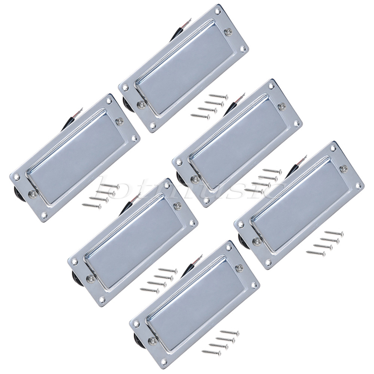 6Pcs Chrome Belcat Ferrite Pickup Humbucker Pickup Double Coil Pickup For Electric Guitar Replacement single coil pickup cover 1 volume 2 tone knobs switch tip for strat guitar replacement ivory 10 set