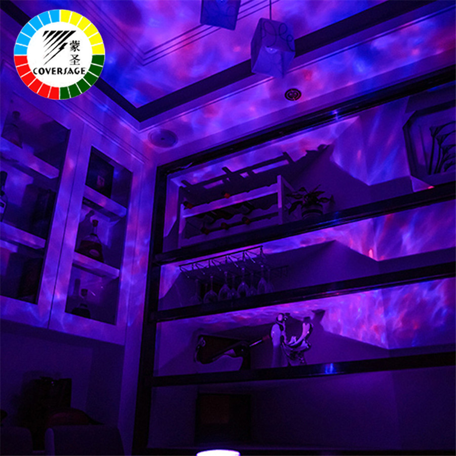 Image 4 - Coversage Ocean Wave Projector LED Night Light With USB Remote Control TF Cards Music Player Speaker Aurora Dropship Projection-in LED Night Lights from Lights & Lighting
