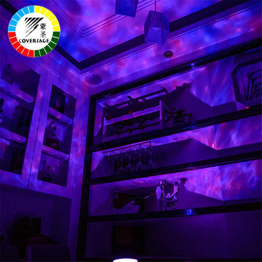 Coversage океан волны проектор светодиодный Ночной светильник с usb-пду Управление TF карты музыкальный плеер Динамик Аврора челнока проекции