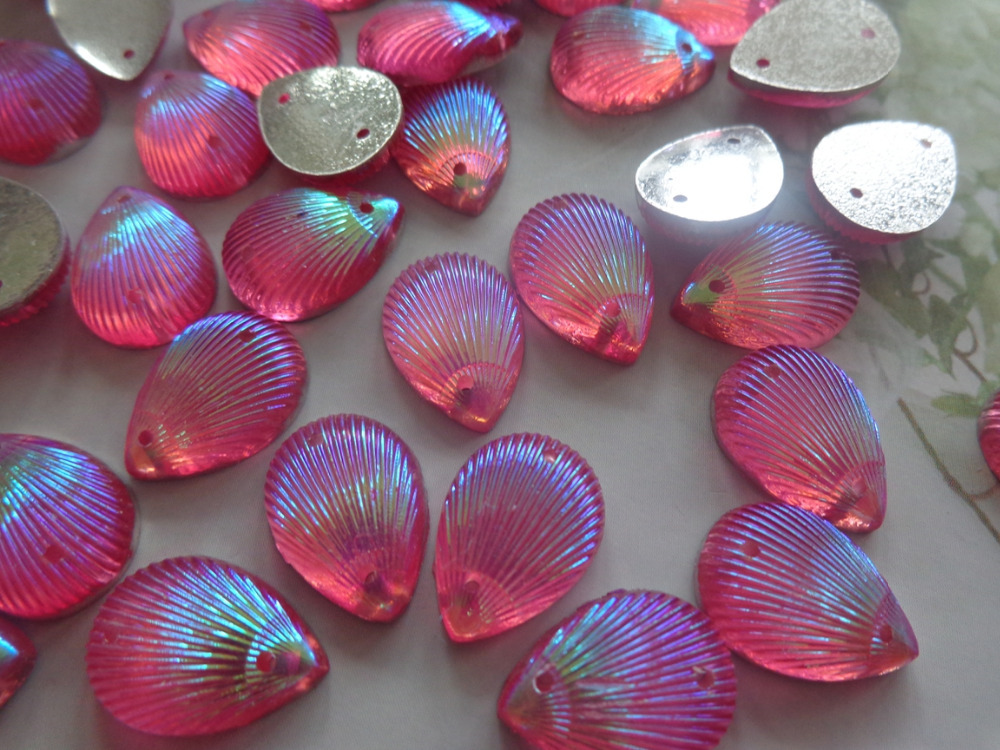Sew on rhinestones Water drop shape 10 14mm flatback crystal pink AB colour  gem stones 100pcs free shipping-in Rhinestones from Home   Garden on ... 51c164ef6704