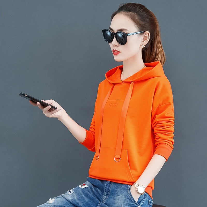 2019 Korean Fleece Warm Women Hoodies New Loose Long Sleeve Female Casual Letter Hooded Tops Fashion Ladies Plus Size Pullover 5