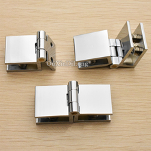 High Quality 50PCS Brass Glass Cabinet Hinges Display Wine Clamps Apply for 5~8mm No Drilling