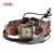 2016 NOVA Moda DO PUNK Multicamadas Corda De Couro Pulseira de Relógio Decorativo De Madeira Talão Pulseiras Vintage & Bangles Para As Mulheres