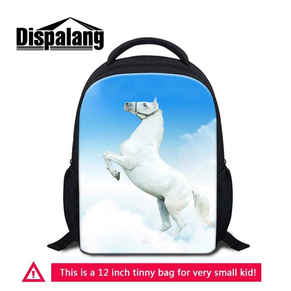 Dispalang детей мини-Рюкзаки Детский сад Школьный животное лошадь печати дети маленький рюкзак Школьные ранцы Обувь для девочек Обувь для мальч...