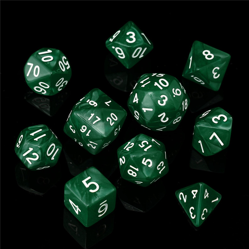 10pc/Set TRPG Board Games Toy Gaming Dices D4-D30 Multi-sided Dices 6Color Novelty & Gag Toys Children Adult Gift