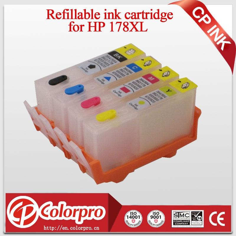 Fishekë boje mbushëse për HP178 për HP Photosmart 5510 6510 7510 B109a B109n B110a B209a C6380 C6300 C5300 për HP 178 HP178XL