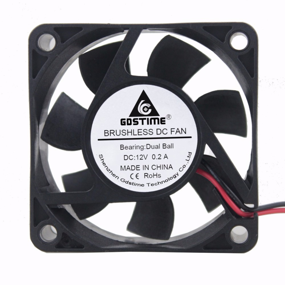 Gdstime 5 Pieces DC 12V Dual Ball Bearing Cooling Fan 60x60mm 6025 6cm Cpmputer Case CPU Brushless Cooler 60mm x 25mm 2Pin original delta afb0912shf 9032 9cm 12v 0 90a dual ball bearing cooling fan page 5