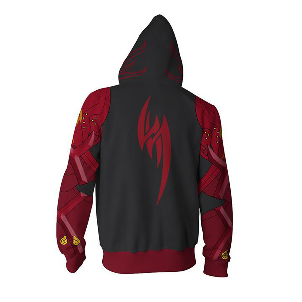 Game Tekken Sport Hoodies Zipper Clothing hooded sweatshirt Unisex Adult casual Clothing hoodie Coat Jacket Tops Coats Pullover in Anime Costumes from Novelty Special Use