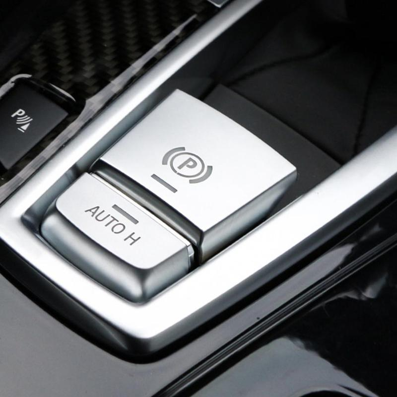 Parking Brake Switch P Button Cover <font><b>Stickers</b></font> For <font><b>BMW</b></font> F10 F07 F01 X3 F25 F26 X4 <font><b>F15</b></font> <font><b>X5</b></font> F16 X6 Interior Mouldings Car Accessory image
