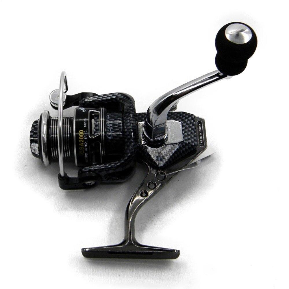 Moulinet de pêche à double chargeur de frein 10BB moulinet de carpe pour la pêche sans rotation