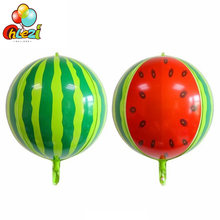 Ballon à hélium à la pastèque 4D, 1 pièce, 22 pouces, décoration de mariage, d'anniversaire, accessoires Photo, jouets pour enfants, fête d'été