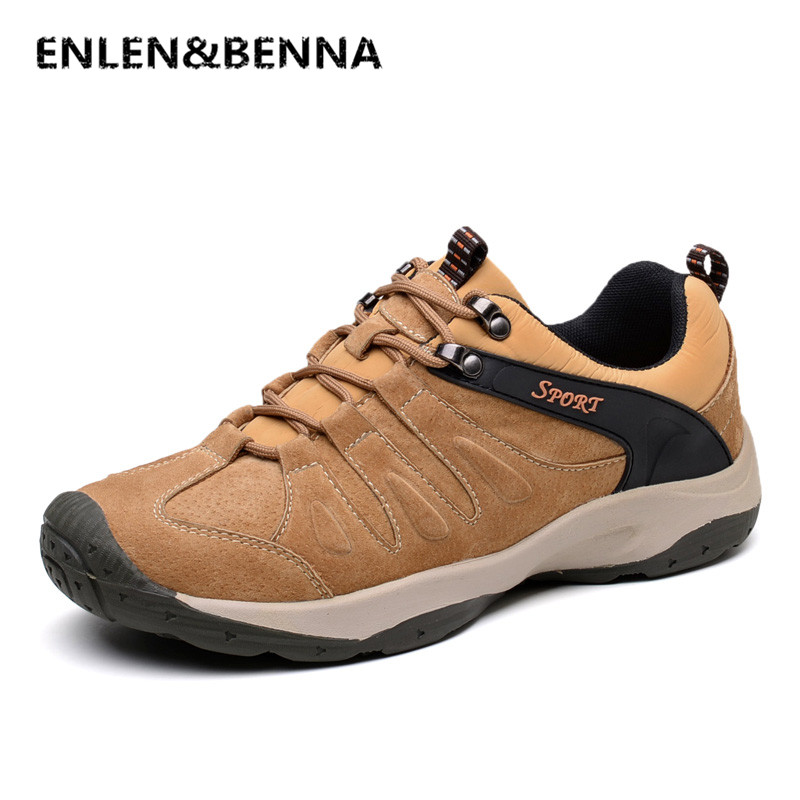 ENLEN&BENNA Spring Autumn Quality Genuine Leather Casual Sneakers Men Shoes Male Walking Brand Comfortable Non Slip Footwear vesonal brand casual shoes men loafers adult footwear ons walking quality genuine leather soft mocassin male boat comfortable