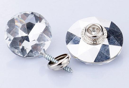 200pcs lot 20 30mm gem flowers Glass Crystal Nails Button Crystal buckle soft bag Sofa nails