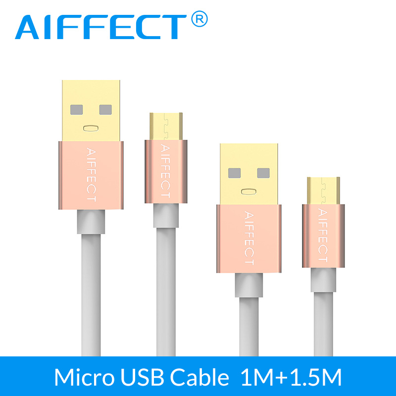 Handy-zubehör Nett Aiffect 2 Pcs 1mx1 1.5mx1 Micro Usb Kabel Usb 5 V 3a Quick Charge Kabel Für Samsung Htc Sony Huawei Xiaomi Lg Android Telefon Handy Kabel