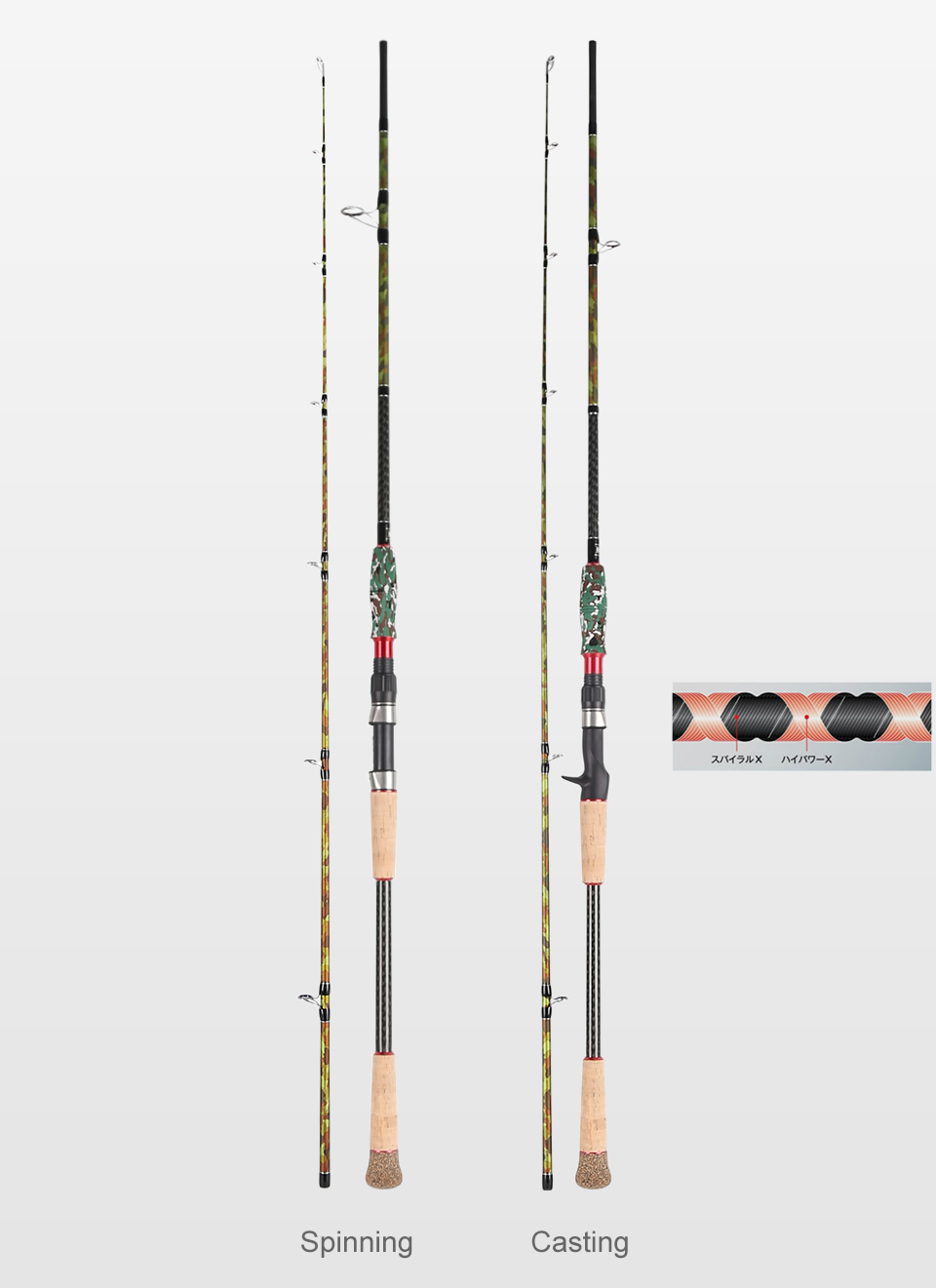 Kingdom Black Cut Spinning Casting Fishing Rod Carton MH, H Power Ultralight Telescopic Fishing Rods 2.39m, 2.49m Travel Rod (5)