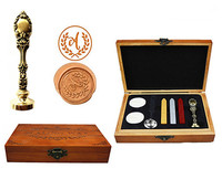 Vintage Monogram Letters Custom Luxury Wax Seal Sealing Stamp Brass Peacock Metal Handle Sticks Melting Spoon