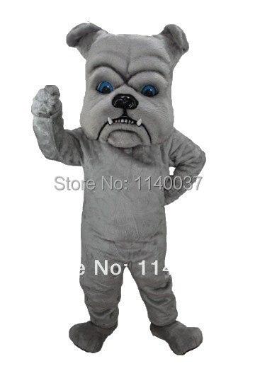 mascot Grey Bulldog Mascot Costume Professional Customized Dog Mascotte Mascota Outfit Suit Party Cosply Fancy Dress