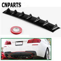 CNPARTS For Ford Focus 2 3 Fiesta Mondeo Ranger Kuga Seat Leon Ibiza Lexus Car Rear Bumper 3D Cool Shark Spoiler Stickers