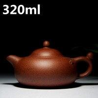중국어 세라믹 찻 주전자 320 미리리터 유명한 수제 차 냄비 이싱 Zisha 찻 주전자 도자기 보라색 점토 진흙 마스터 메이커 차 냄비