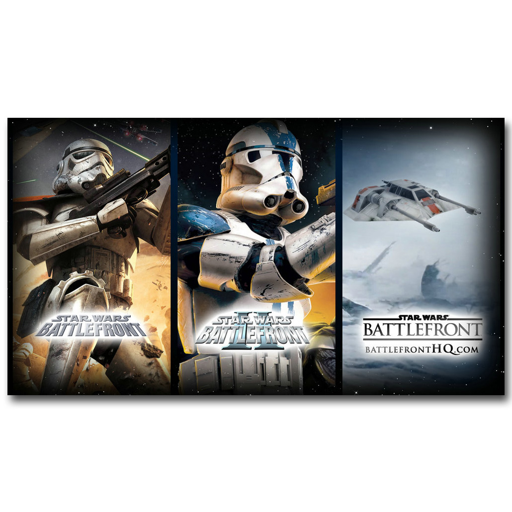 Stroomtrooper - Sar Wars Battlefront 2 Art Silk Fabric Poster Print 13x24 24x43inch Hot New Game Picture for Room Wall Decor 112