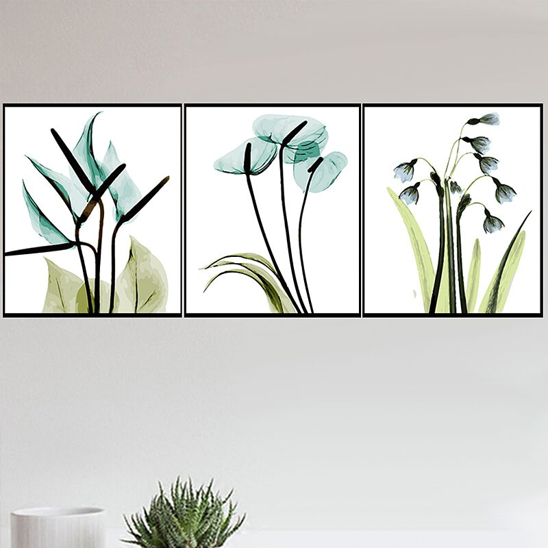 HTB124BsXffsK1RjSszbq6AqBXXag 3 pcs DIY Oil Painting by Numbers Flower Triptych Pictures Animal Coloring Landscape Abstract Paint Wall Sticker Home Decor Gift