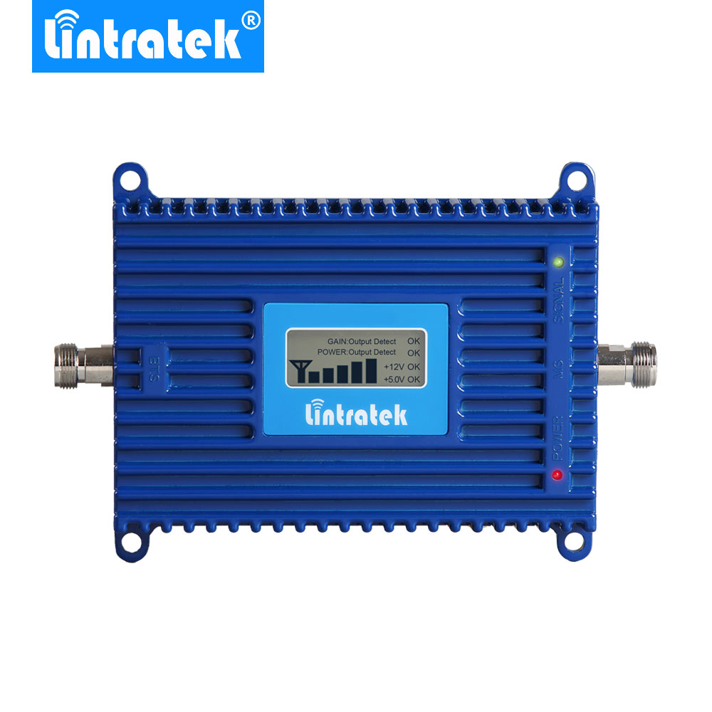 Lintratek 4G LTE Signal Repeater Booster 800MHz Band 20 70dB Gain 4G LTE 800MHz Mobile Cell Phone Signal Repeater Amplifier @