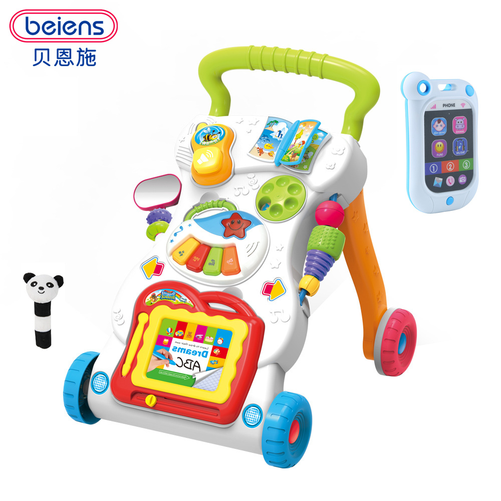 Beiens Learning Walker For Kids 9 Month Up Musical Toys Baby Walker Stroller activity  wheel baby walker safety Free Shipping bill handley speed learning for kids