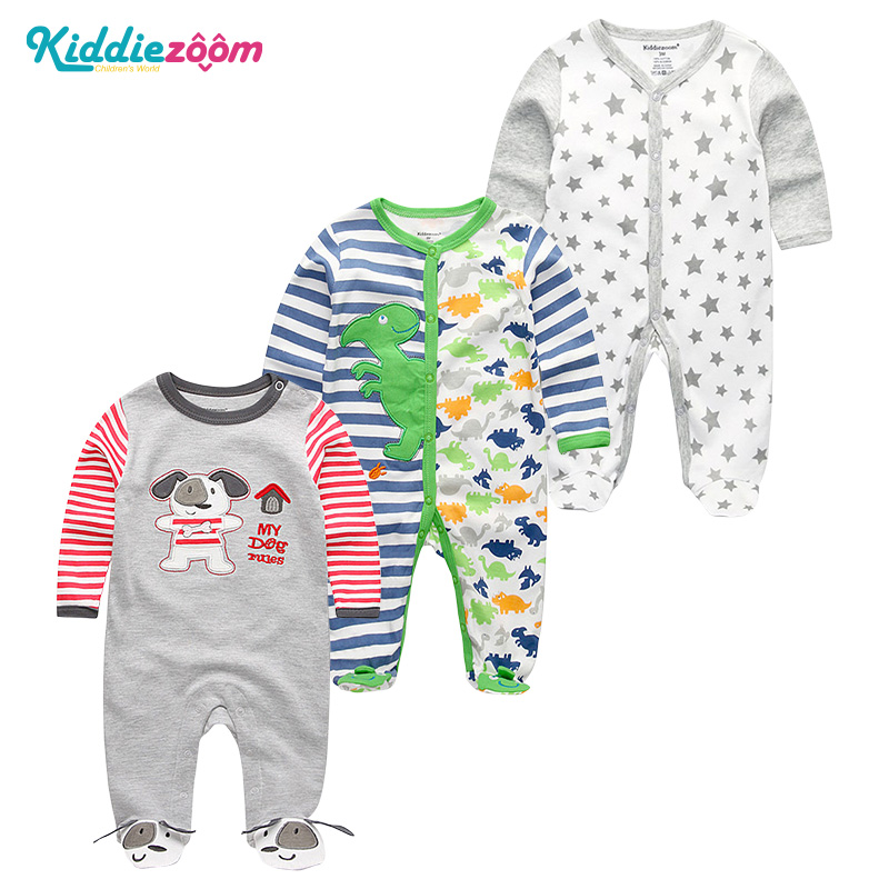Newborn Baby Boy Clothes Roupa Infantil Menina InvernoGirl Cotton Pajamas Overalls Long Sheeve Baby Boy Rompers New 0-1 Years