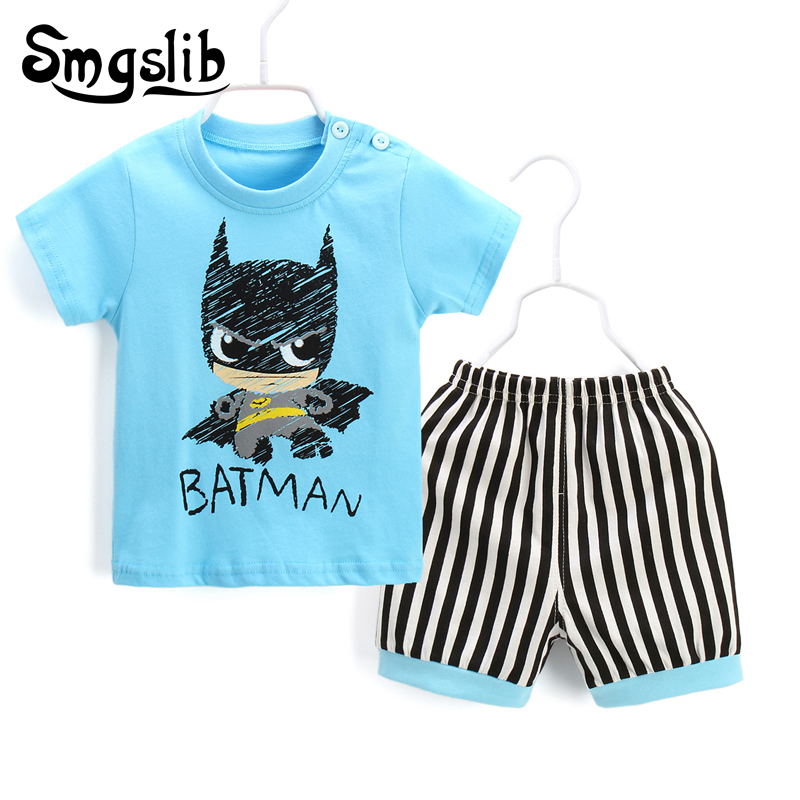 Baby Boy Clothes 2018 Cotton Casual T-shirt+Pants two piece set newborn baby girl summer ...