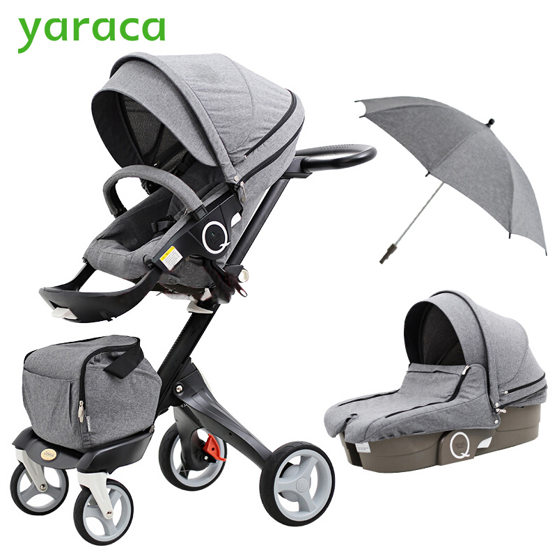 2 In 1Baby Stroller High Landscape Folding Portable Baby Carriage For Newborns Luxury Prams For Children From 0-3 Years Old folding baby stroller lightweight baby prams for newborns high landscape portable baby carriage sitting lying 2 in 1