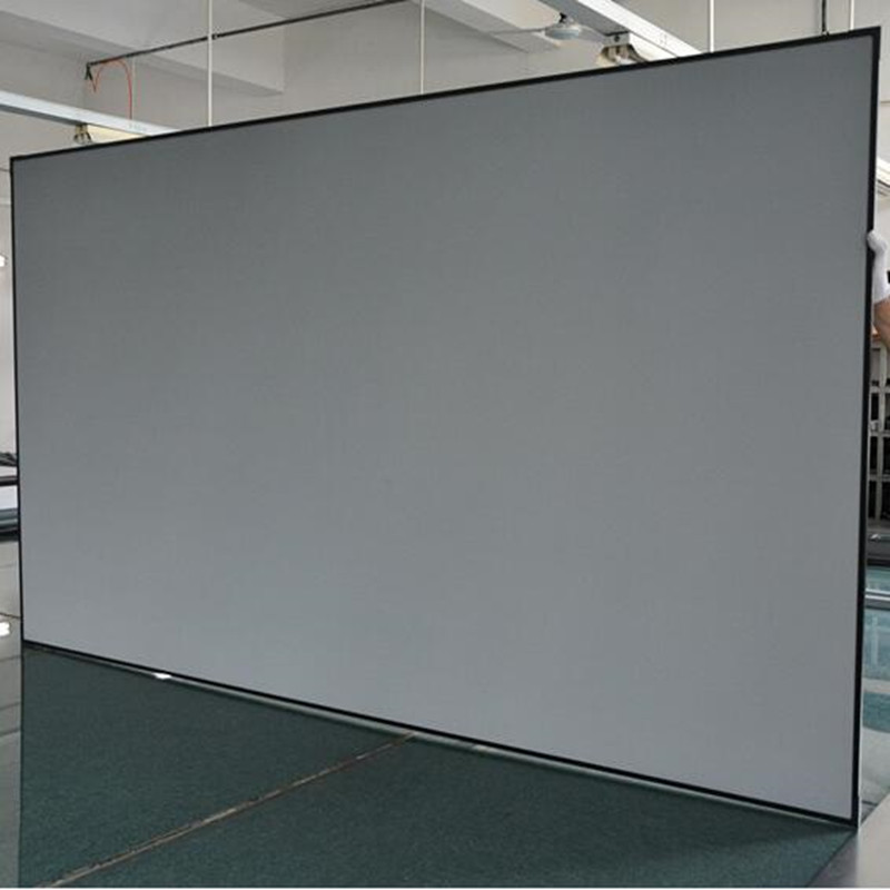 цена Diagonal 16:9 Ambient Light Rejecting Fixed Frame Projection Projector Screen for Ultra short throw projectors