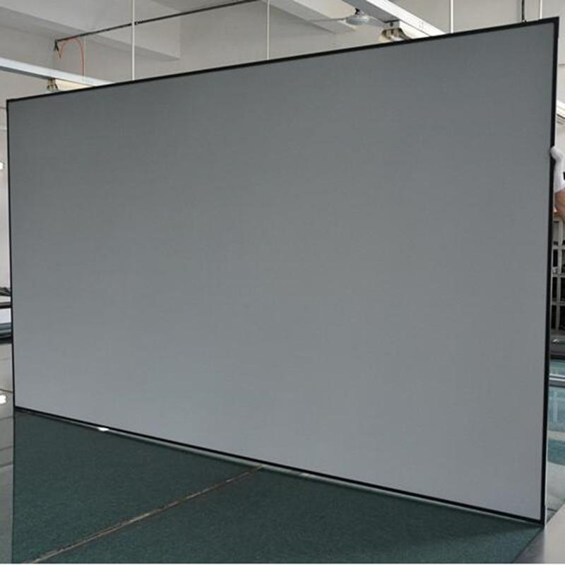 Diagonal 16:9 luz ambiental que rechaza la pantalla del proyector de proyección del marco fijo para los proyectores de tiro Ultra corto