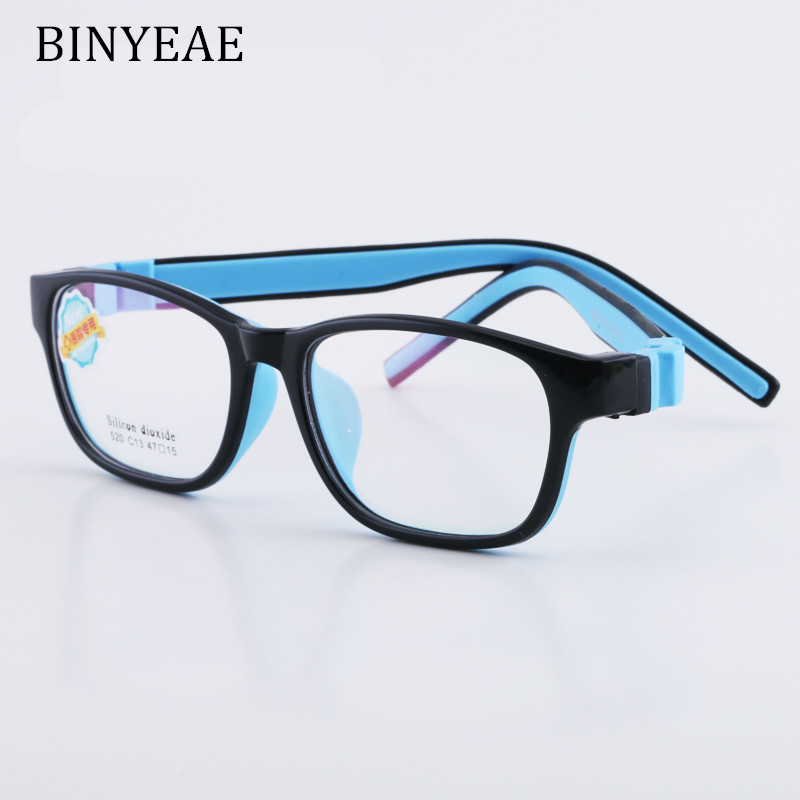 2bf17d05918 BINYEAE Glasses Frame for Boys and Girls Kids Eyeglasses Frame Flexible  Quality Eyewear for Protection and Vision Correction-in Eyewear Frames from  Apparel ...