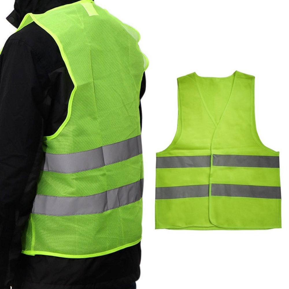 New Hot Unisex Reflective Vest XL XXL XXXL Workwear High Visibility Day Night Running Cycle Warning Adult Safety Vest Wholesales