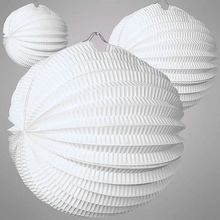 5pcs 19cm&32cm White Pure Accordion Paper Lanterns Pleated Crafts  Wedding Party Patio Decor Succinct Daily