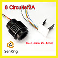 Separate slip ring 6 wires/circuits 2A with bore size 25.4mm